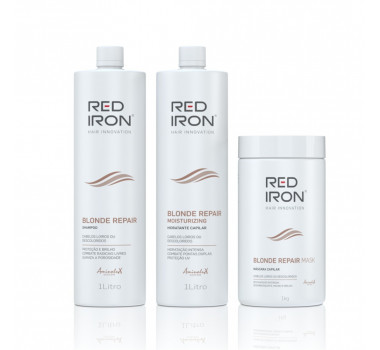 Red Iron Kit  Blonde Repair Cabelos Loiros Descoloridos e mechados