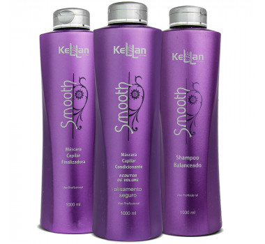 KIT KELLAN PROFISSIONAL SMOOTH ESCOVA PROGRESSIVA 3 PRODUTOS
