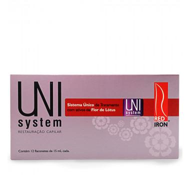 RED IRON PROFESSIONAL UNI SYSTEM RESTAURAÇÃO CAPILAR AMPOLA 12X15ML